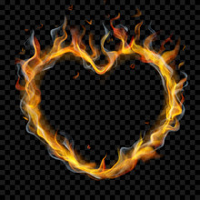 Translucent Heart Of Fire Flam...