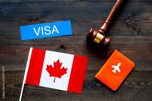 Valokuvatapetti Visa to Canada concept