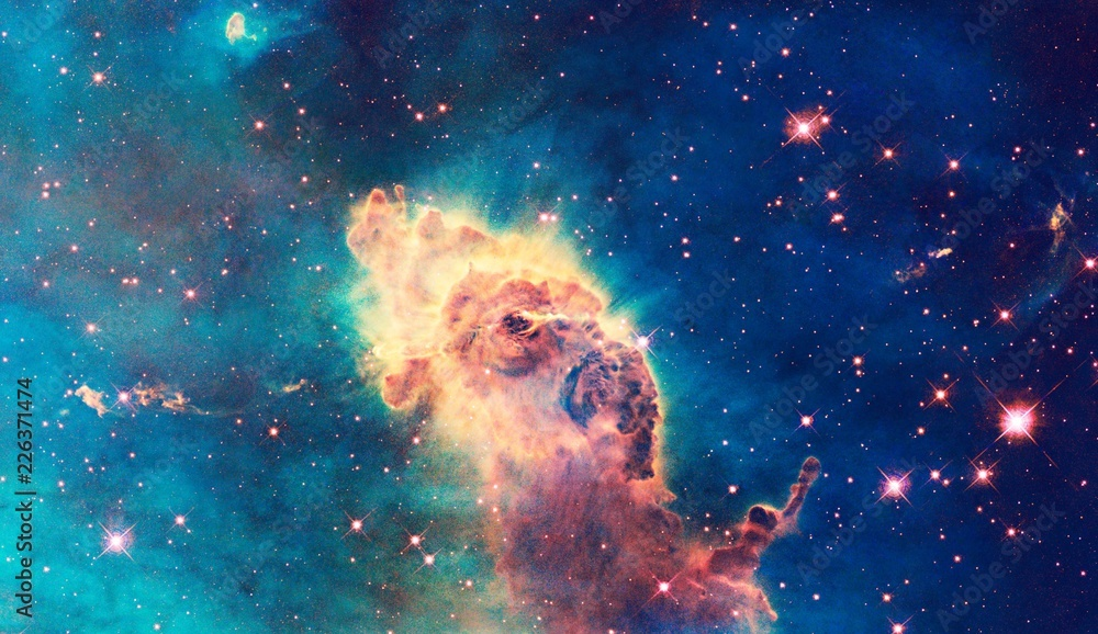 Fototapety, obrazy: Color-Enhanced Galaxy Universe Carina Nebula Elephant Head Image With Elements From NASA