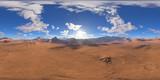 Panorama of fantasy landscape sunset, environment 360 HDRI map. Equirectangular projection, spherical panorama. 3d rendering