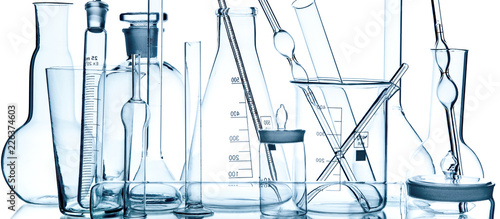 Photo laboratory glassware group