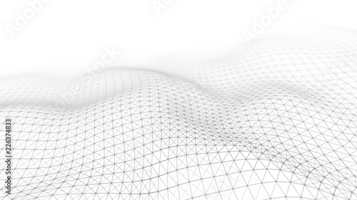 Wave white background Wallpaper Mural