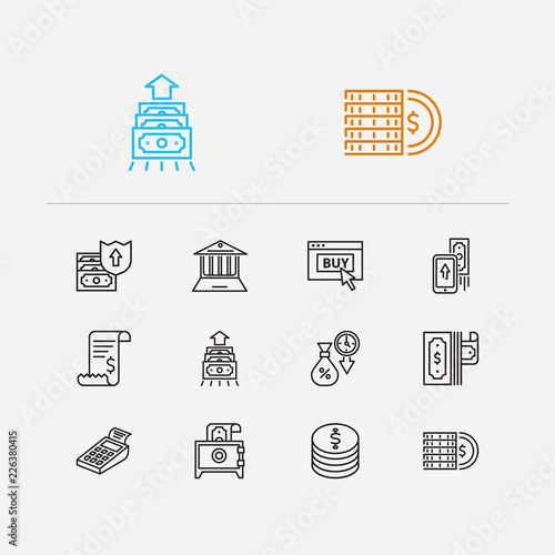 Banking icons set  Mobile payment and banking icons with