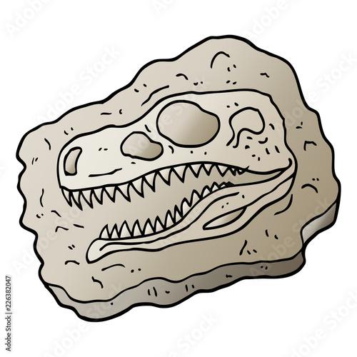 Cuadros en Lienzo  vector gradient illustration cartoon ancient fossil