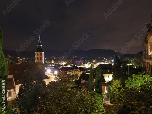 Foto  Baden-Baden bei Nacht