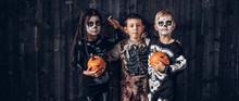 Three Multiracial Kids In Scar...