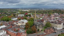 Panning Aerial View Of Dudley,...