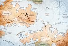 Map Of Pirate Treasure Island