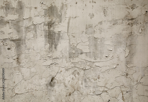 Poster Vieux mur texturé sale Old white grunge wall background or texture.