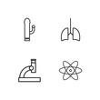 medical simple outlined icons set
