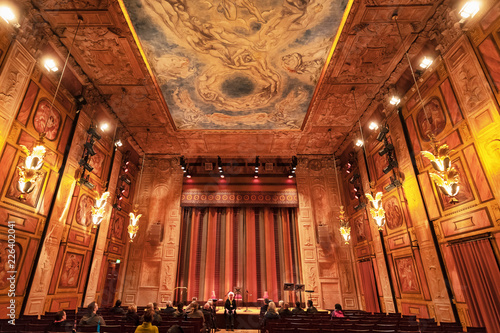 Foto op Canvas Theater Guided tour at Konserthuset and the Grünewaldsalen the smallest of the two but highly decorated and great accoustics