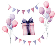 Watercolor Birthday Party Set....