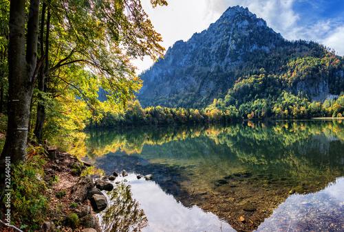 Bergidylle am Laudachsee mit Traunstein Canvas Print