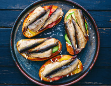 Homemade Sprat Sandwiches With...