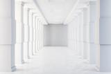 Fototapeta Perspektywa 3d - Minimalistic concrete tunnel interior