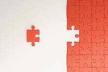 Creative Orange Puzzle Background