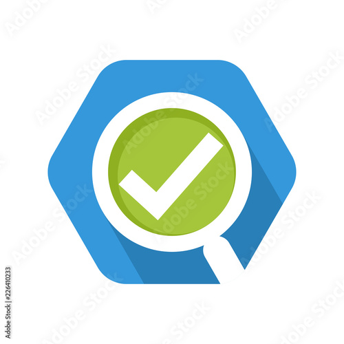 icon vector illustration for review, quality control, surveys, observation Wallpaper Mural