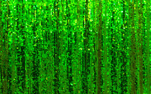 Beautiful Green Glitter Curtain Background With Sequins