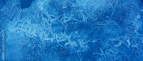 Fotografia Nature Winter background With Beautiful natural icy pattern