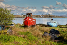 Bay , Beach , Beautiful , Boat , Coast , Coastline , Colorful , Connemara , Equipment , Europe , Fishing , Galway , Green , Industry , Ireland , Landscape , Nature ,ocean ,old