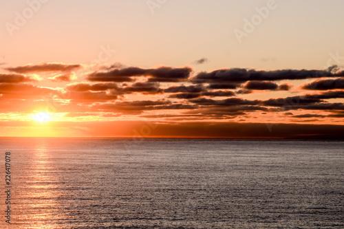 Papiers peints Corail Beautiful Colored Sunset