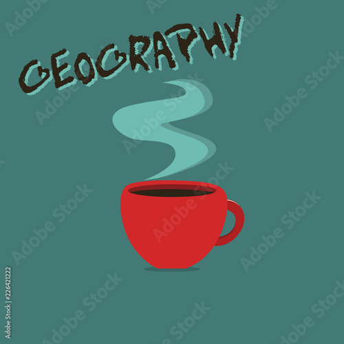 Fotografia  Conceptual hand writing showing Geography