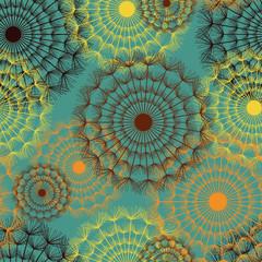 Fototapeta Dmuchawce Seamless pattern vintage with dandelions