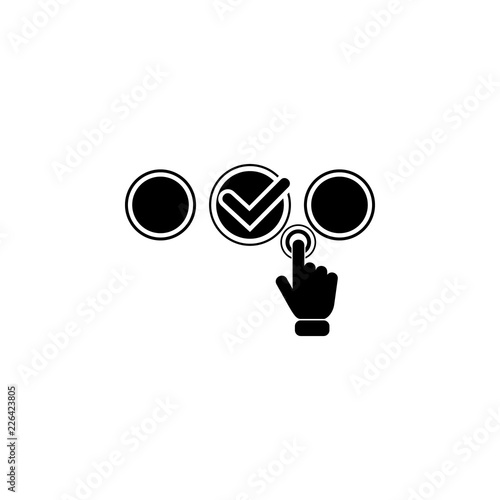 Fototapeta Touching pressing modern button icon. Element of touch screen technology icon. Premium quality graphic design icon. Signs and symbols collection icon for websites obraz na płótnie