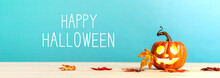 Happy Halloween Message With P...