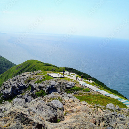 Walking along the skyline trail on Cape Breton Island, Nova Scotia, with the vas Fototapete