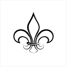 Fleur De Lis, Fleur-De-Lys Or Flower-De-Luce, The Decorative Stylized Lily
