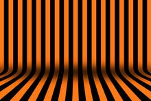 Stripe Room In Black And Orang...