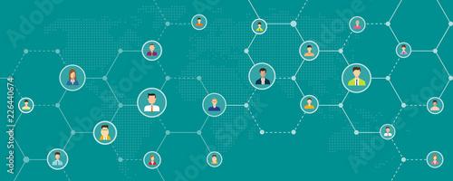 Fototapeta global business online   and social network connection background banner concept  obraz