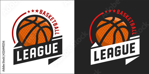 Illustration of modern basketball league logo Tableau sur Toile