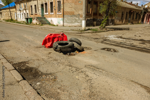 Due to technology of violations in construction of roads
