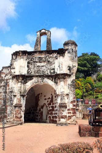 Foto op Plexiglas Asia land Ruins of Kota A Famosa - portuguese fortress in Malacca, Malaysia