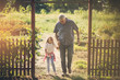 canvas print picture - Walk and conversation.