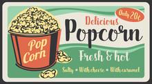 Popcorn Fast Food Sweet Snack, Vector