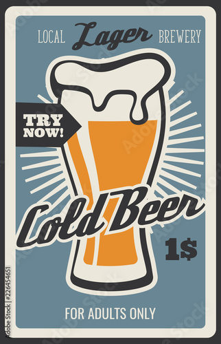 Photo Beer bar and brewery drinks, vector