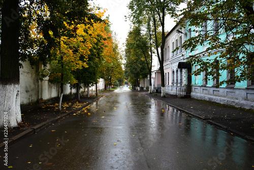 Photo Vitebsk, Belarus-October 6,2018:  Pokrovskaya Street on the right bank of the We