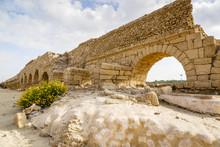 The Roman Aqueduct, Caesarea, ...