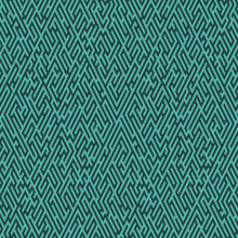 Labyrinth Background. Geometric Irregular Backdrop. Abstract Turquoise Seamless Line Maze Pattern.