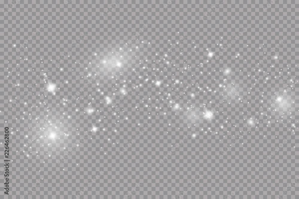 Fototapeta Glow light effect. Vector illustration. Christmas flash. dust