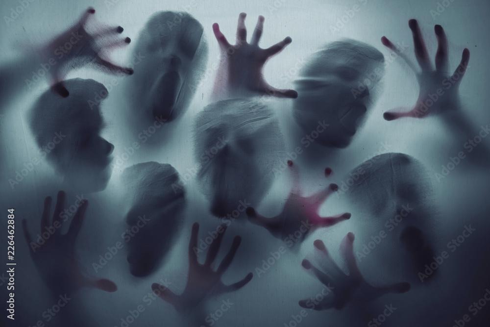 Fototapeta Screaming ghost faces