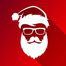 Christmas Vector Hipster Santa...