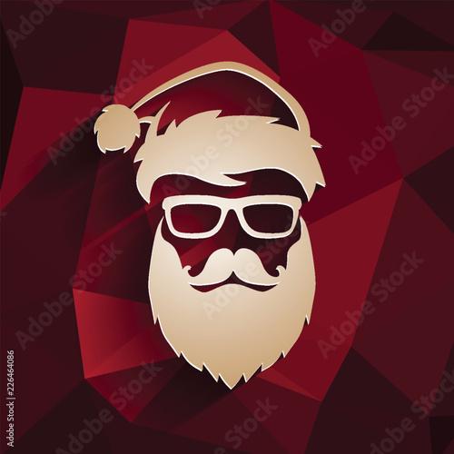 Foto  Christmas vector hipster Santa Claus