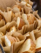 Bread At A Restaurant, Jerusalem, Israel.