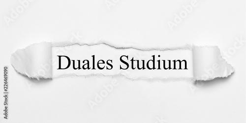Duales Studium auf weißen gerissenen Papier