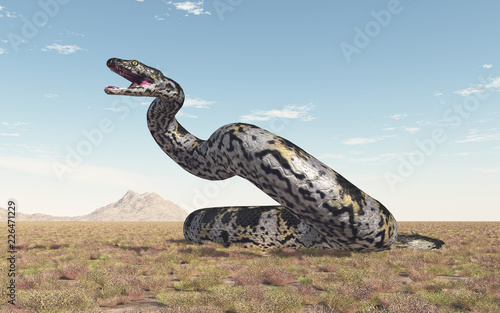 Fototapeta premium Prähistorische Riesenschlange Titanoboa