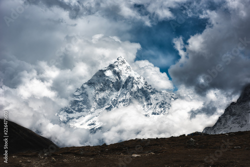 Ama Dablam mount in Sagarmatha National park, Everest region, Nepal Wallpaper Mural
